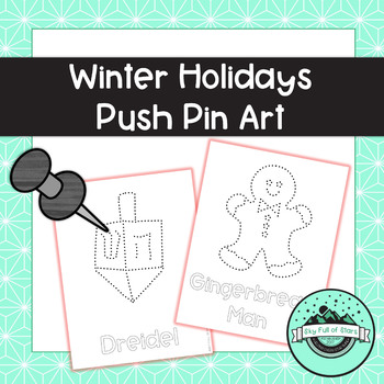 Winter Holidays Push Pin Art