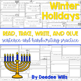 Winter Holidays Read, Trace, Glue, and Draw