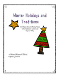 Winter Holidays Reading Fluency, Comprehension, and Writin