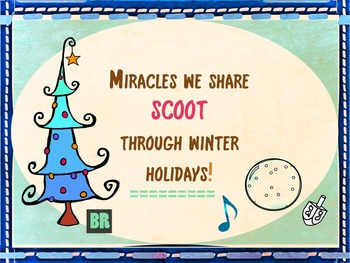 Winter Holidays SCOOT: Christmas, Chanukah, Kwanzaa, Diwal