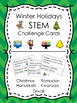 Winter Holidays STEM Design Challenge Cards