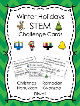 Winter Holidays STEM Design Challenge Cards