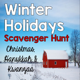 Winter Holidays Scavenger Hunt {Christmas, Hanukkah, Kwanzaa}