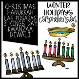Winter Holidays Common Core booklet Christmas Kwanzaa Hanukkah LasPosadas Diwali