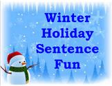 Winter Holidays Sentence Fun
