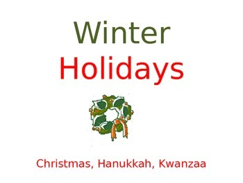 Winter Holidays- Simple Powerpoint