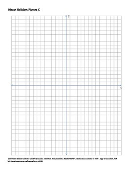 Winter Holidays Snow Man Coordinate Plane Connect the Dots Worksheet