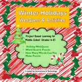 Winter Holidays / Christmas WebQuest & Activities | Distan