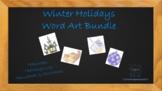 Winter Holidays Word Art Bundle