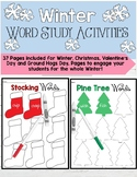 Winter Holidays Word Study Station Activities