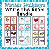 Winter Holidays Write the Room Bundle
