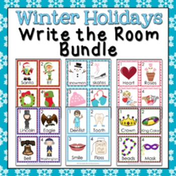 Winter Holidays Write the Room Bundle