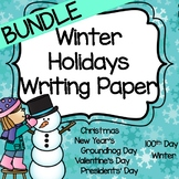 Winter Holidays Writing Paper Bundle