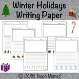 Winter Holidays Writing Paper