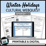 Winter Holidays Webquest for Spanish 1-2 (Google Drive & Printable)