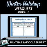 Winter Holidays Webquest for Spanish 1-2 (Google Drive & Printable)