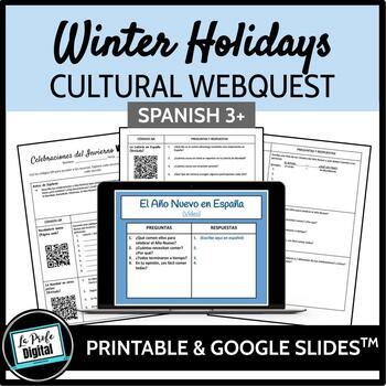 Winter Holidays Webquest for Spanish 3 (Google Drive & Printable)