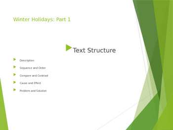 Winter Holidays with Text Structure