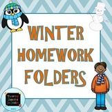 Winter Homework Folders