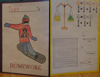 Winter Homework Folders
