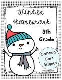 Winter Homework Pack *Common Core Aligned* 5th Grade