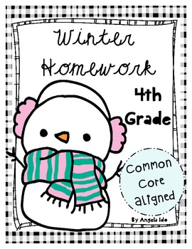 Winter Homework Pack *Common Core Aligned* Grade 4