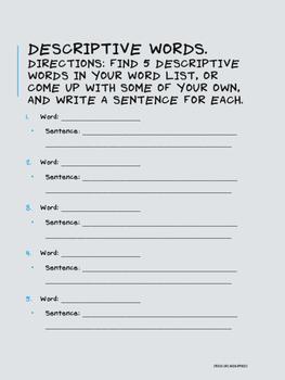 Winter Homework Packet