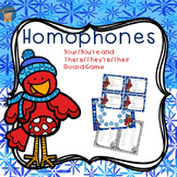 Winter Homophone Game