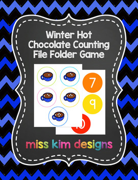 Winter Hot Chocolate Counting File Folder Game for Special Education