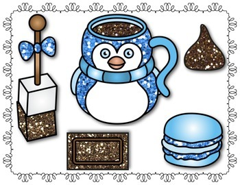 Winter Hot Chocolate & Treats Set! I use for Speech & Language Therapy!