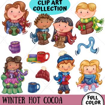 Winter Hot Cocoa Clip Art Set