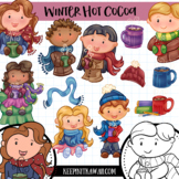 Winter Hot Cocoa Clip Art Set