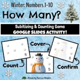Winter How Many? 1-10 Subitizing, Number Sense & Counting