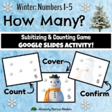Winter How Many? 1-5 Subitizing, Number Sense & Counting Smartboard Game