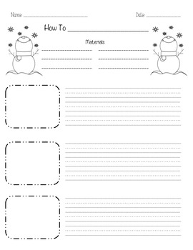 Winter How-To Writing Paper