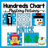 Winter Math Hundreds Chart Mystery Pictures