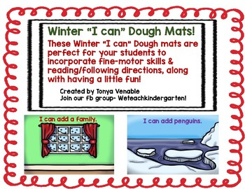 "Winter ""I Can"" Dough Mats"