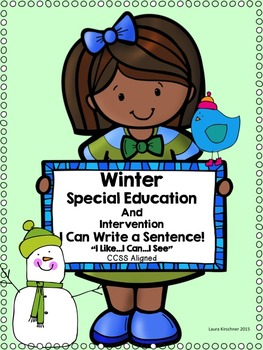 Special Education Writing for Winter