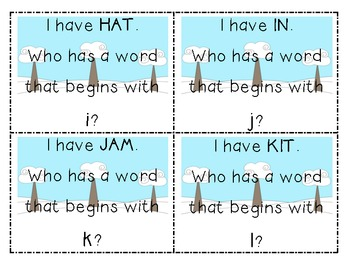 Winter I Have, Who Has: Beginning Sounds