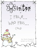 Winter I Have... Who Has... Cards