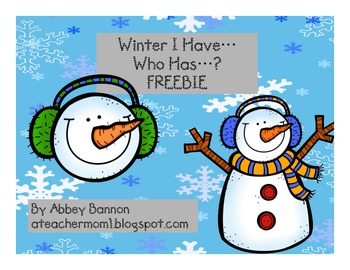 Winter I Have... Who Has...?  FREEBIE