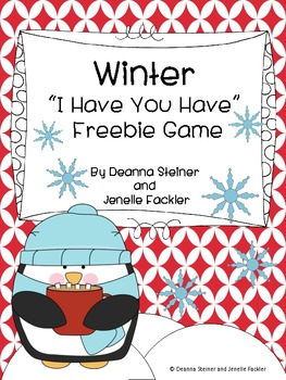 """Winter """"I Have You Have"""" Freebie Game"""