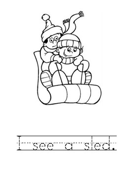 """Winter """"I See..."""" Coloring Book"""