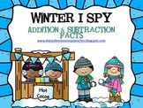Winter I Spy Addition & Subtraction Facts