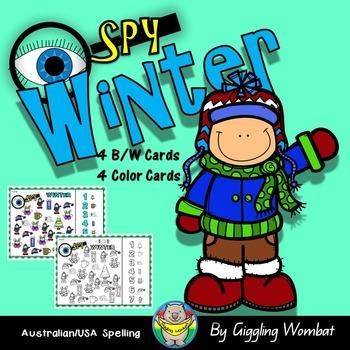Winter I Spy Cards