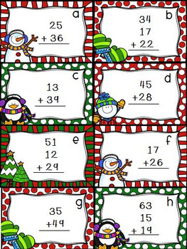 "Winter ""I Spy"" Double Digit Addition with Regrouping"