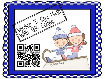 Winter I Spy Math With QR Codes