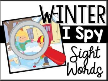 Winter I Spy Sight Words