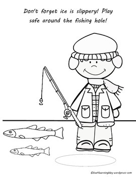 Ice Fishing Safety Color Pages