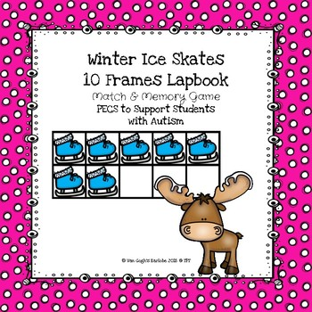 Winter Ice Skates Ten Frames Lapbook